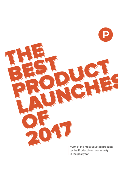 Download Free Book: The Best Product Launches of 2017