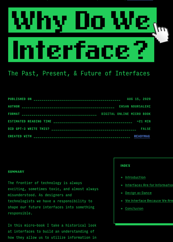 Why Do We Interface?